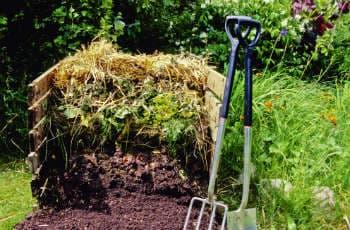Schichtung des Kompost