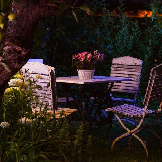 Gartenmöbel Abendstimmung