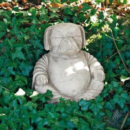 Gartenfigur Buddha-Hund Mopsi