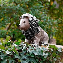Gartenfigur Terracotta-Löwe Leo