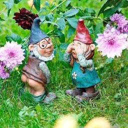 Gartenzwerge Willy & Christl, 2er-Set