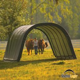 ShelterLogic Weidezelt Run-in-Shed 22,57m² inkl. Sturmanker