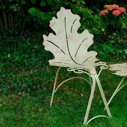 Blatt-Stuhl mit Rückenlehne