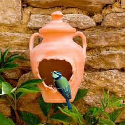 Terracotta-Futterstelle / Nisthöhle Amphora