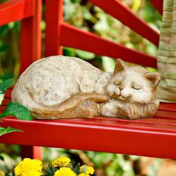 Gartenfigur Schlafende Katze Morle