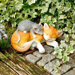 Dekofigur Maus und Katz