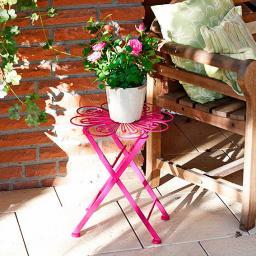Blumentisch Colore Fleur pink