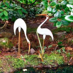 Gartendekoration Seevögel, 2er-Set