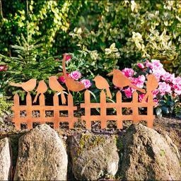 Beetzäunchen/Beetstecker Vogelgezwitscher, 2er-Set