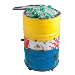 Eiskühler Tonne, Unikat aus recycelten Ölfässern