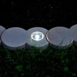 Bio-Rasenkantenstein mit Solar-LED-Licht