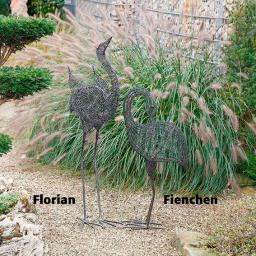 Skulpturen Flamingo Florian & Fienchen, 2er-Set