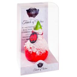 Amaryllis Wax, Touch of Snow Christmas-Red
