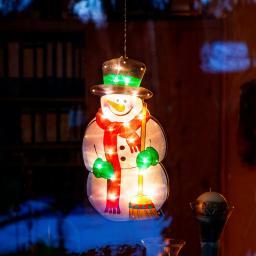LED-Fensterdeko Schneemann Shiny