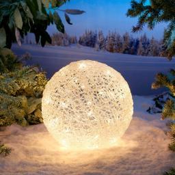 LED-Kugel Winterglanz, groß