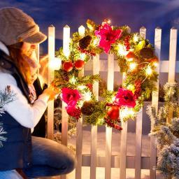 LED-Türkranz Weihnachtsgruß