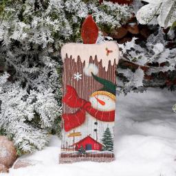 Deko-Kerze Winterfeuer, groß