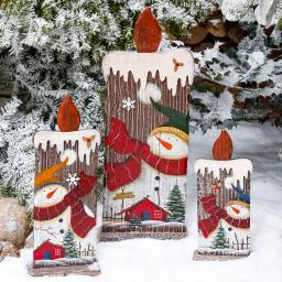Deko-Kerzen Winterfeuer, 3er-Set