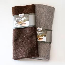 Winterschutz-Schafwollmatte grau