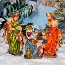Außen-Krippenfiguren, Set Heilige 3 Könige, Polyresin, bunt