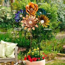 Solarblume XXL Charming Blossom in Rostoptik