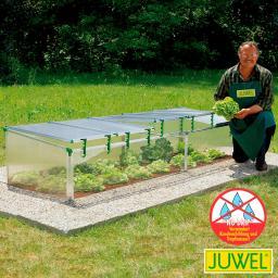 JUWEL Frühbeet Biostar 1500, transparent, m. Fensterautomat, 150x80x50/40 cm