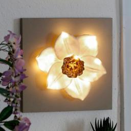 LED-Wanddeko Narzisse