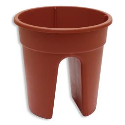 3er-Set Flowerclip, terracotta