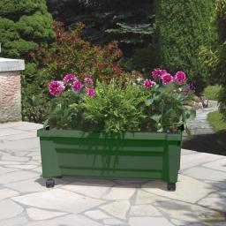 Pflanzkasten inkl. Bewässerungssystem, grün