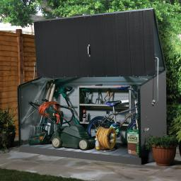 Design Aufbewahrungsbox Storeguard, PVC-beschichtet, verzinkter Stahl, ca. 196 x 89 113 cm