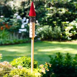 Insektenhotel Rakete, rot