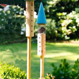 Insektenhotel Rakete, blau