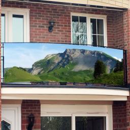 Balkon-Sichtschutz, Gipfelstürmer