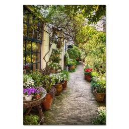 Gartengemälde Hofgarten 130 x 70 cm