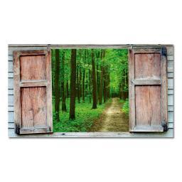 Gartengemälde Waldblick 140 x 79 cm