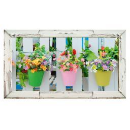 Garten-Gemälde Bunte Blumentöpfe