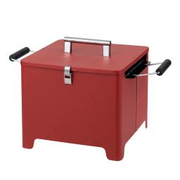 """Holzkohlengrill """"Cube"""" rot"""