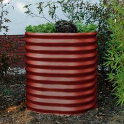 Hochbeet Terra Rund 858, Aluminium, rot, Durchmesser x H: 82 x 86 cm