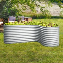 Erweiterung Curve 858 Zinkalum, blank  80 x 80 x 86 cm