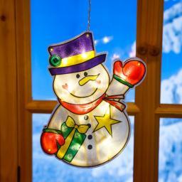 LED-Fensterdeko Schneemann Matz