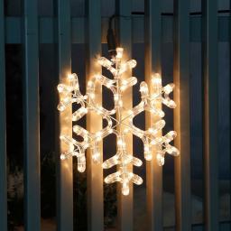 Leucht-Schneeflocke Ice Crystal, klein