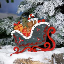 Deko-Schlitten Christmas Time