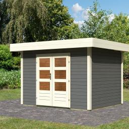 KARIBU Gartenhaus Multi Cube 3, 28 mm, grau