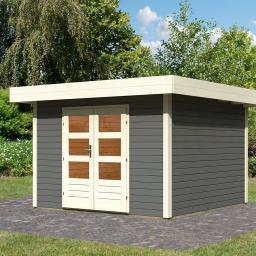 KARIBU Gartenhaus Multi Cube 4, 28 mm, grau