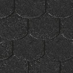KARIBU Dachschindeln Biberschwanz, schwarz