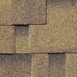 Dachschindeln Asymmetrisch, gold