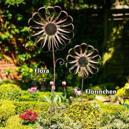 Gartenstecker Blume Flora