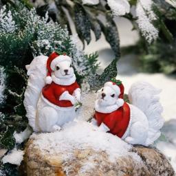 Weihnachts-Eichhörnchen Paul & Pino, 2er-Set