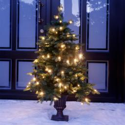 Künstlicher LED-Außen-Weihnachtsbaum Tannenzauber