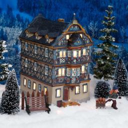 Miniatur-Weihnachtsdorf-Lichthaus Killingerhaus in Idstein,Taunus